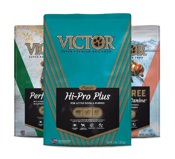 Victor Bags of food